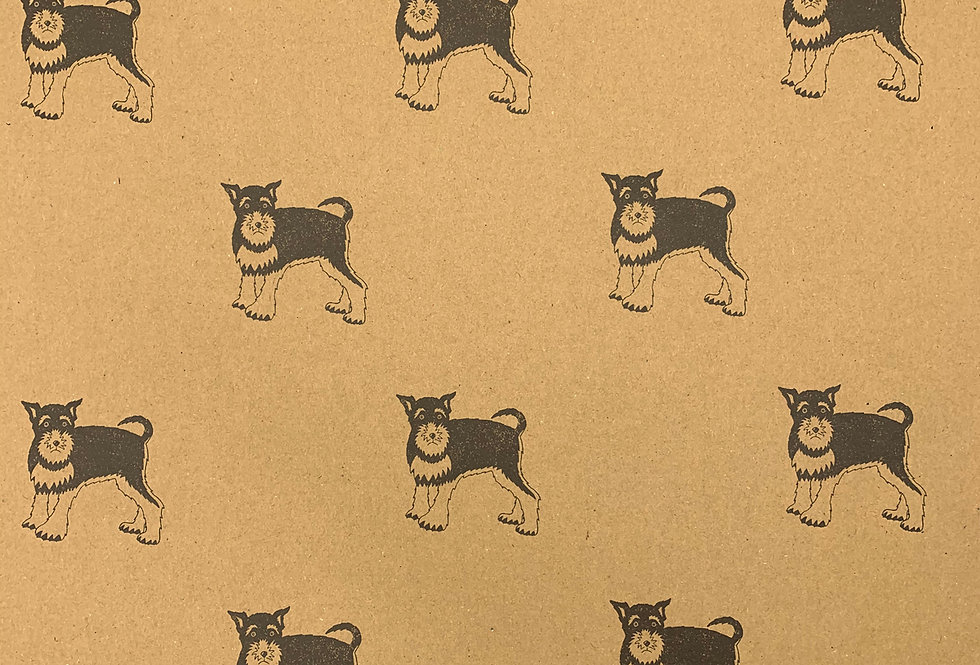 Wrapping Paper Schnauzer x1 Sheet- Wrapped By Alice