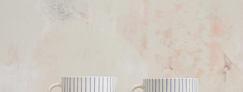 Iba Ceramic Coffee Mug Indigo - Nkuku