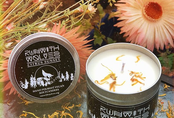 Citrus Sunset Citronella Soy Wax Candle 180ml - Run With Wolves