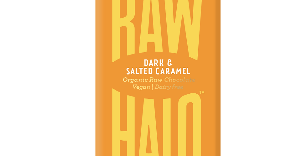 Raw Halo Dark & Salted Caramel Vegan Chocolate - 22g