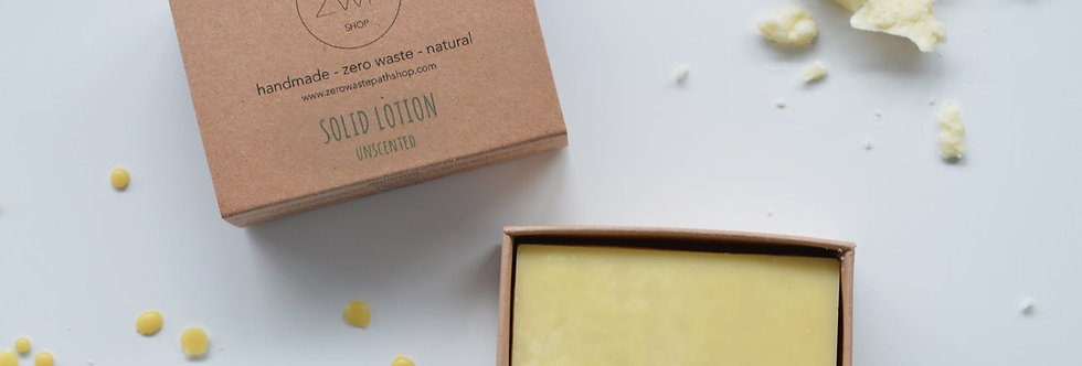 Unscented Solid Lotion 90g - Zero Waste Path