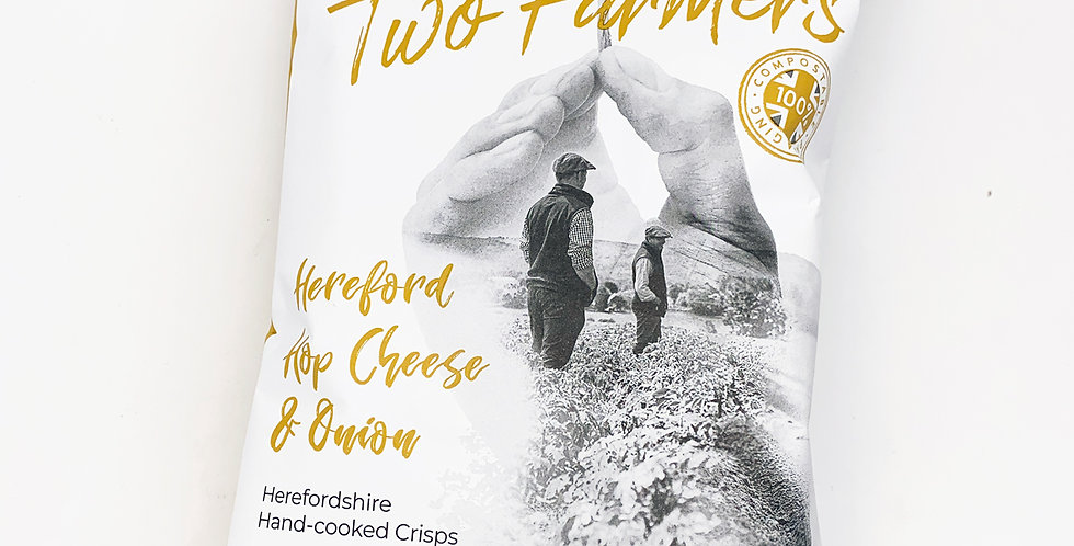 Two Farmers Crisps Cheese & Onion 12 x 150g
