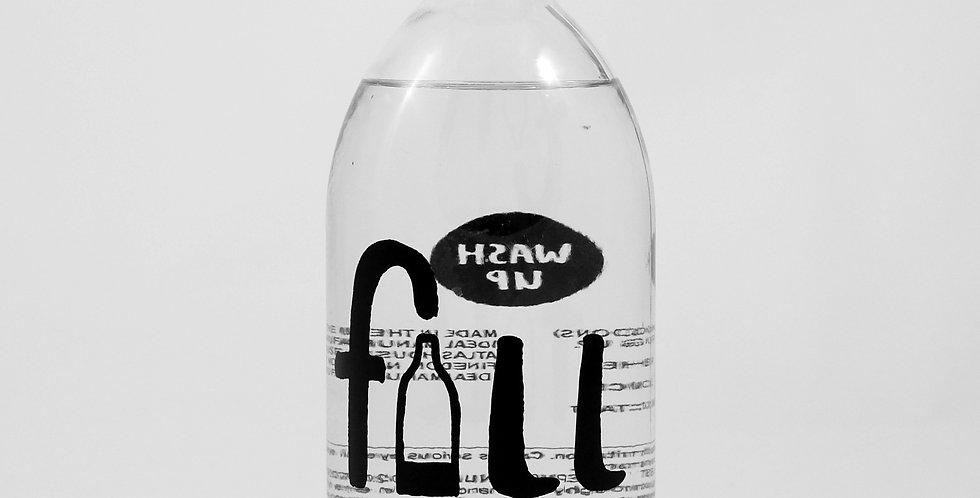 FILL Washing Up Liquid Ginger - 500ml Glass