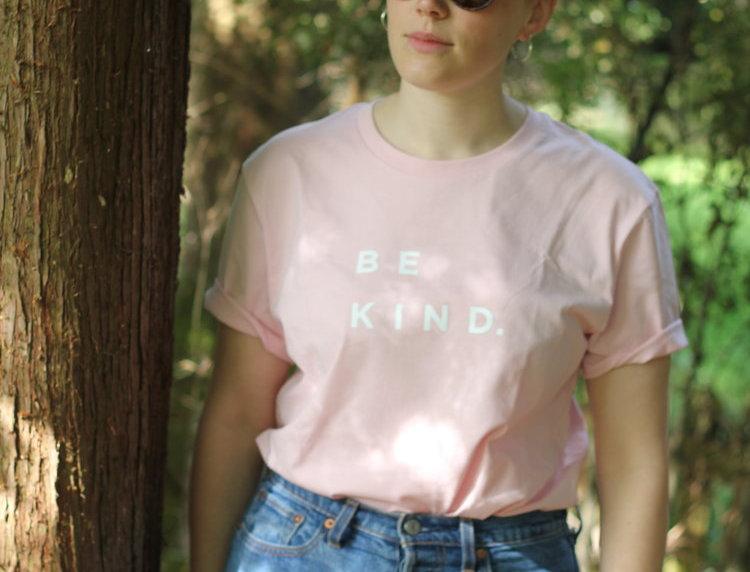 B E  K I N D Tee Baby Pink - Self Care Co