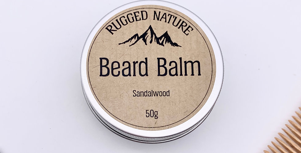 Unscented Beard Balm 50g - Rugged Nature