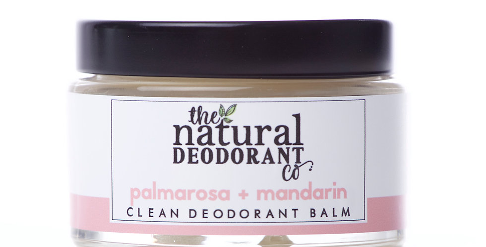 Clean Deodorant Balm Palmarosa + Mandarin 55g - The Natural Deodorant Co