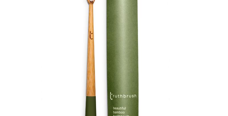 Bamboo Toothbrush with Plant Based Medium Bristles Moss Green - Truthbrush