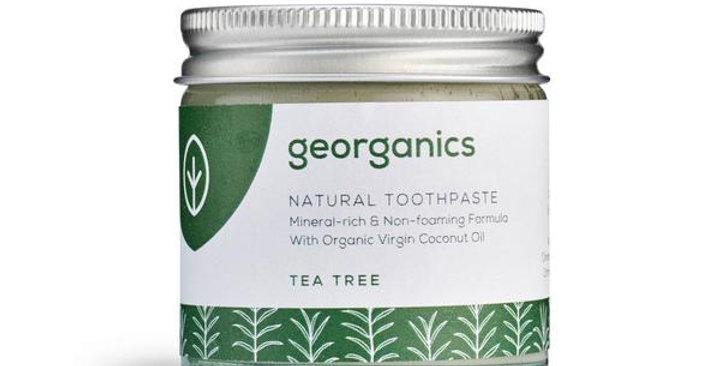 Coconut Oil Toothpaste Tea Tree 60ml - Georganics