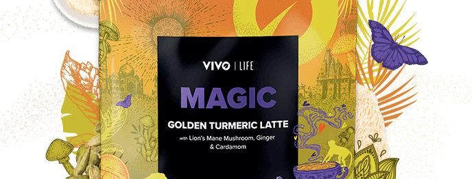 Vegan MAGIC Golden Turmeric Latte 120g - Vivo Life