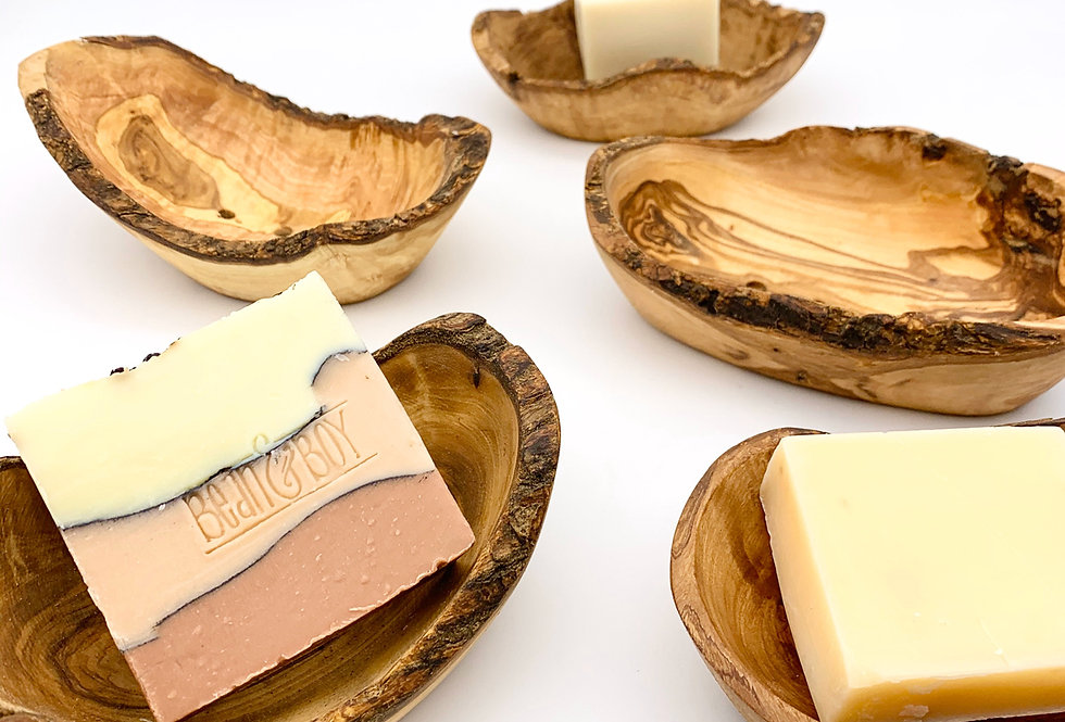 Olive Wood Soap Dish - Eco Living