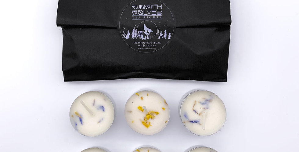 x6 Tea Light Set Ginger Solstice - Run With Wolves