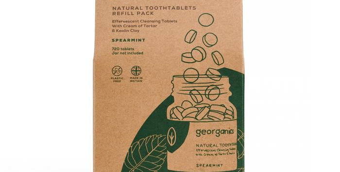 Mouthwash Tablets Spearmint 720 Tablets - Georganics