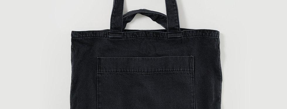 BAGGU Giant Pocket Tote Bag - Washed Black