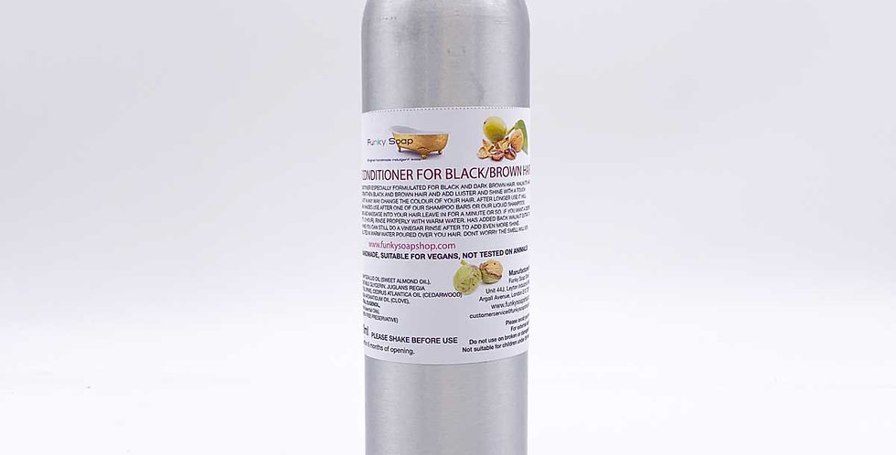 REFILLABLE Black Walnut Conditioner For Black/Brown Hair 300ml - Funky Soap