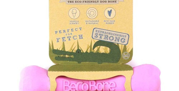 Natural Rubber Chew Bone Pink - Beco