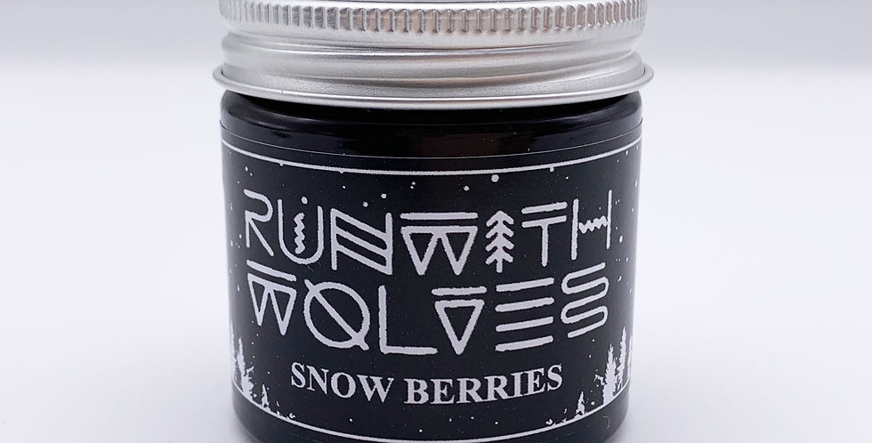 MINI Snow Berries Soy Wax Candle 60ml - Run With Wolves