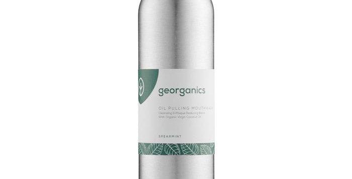 Oil Pulling Mouthwash Spearmint 275ml - Georganics