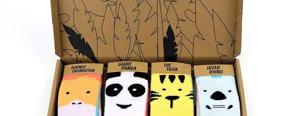 Baby Socks x4 Pack - Critically Endangered Socks