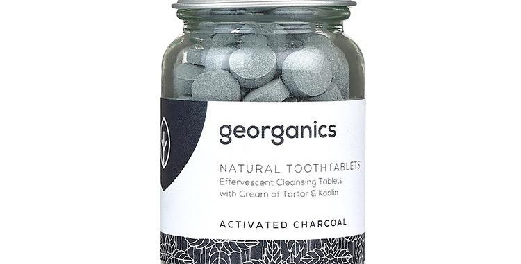 Mouthwash Tablets Charcoal 180 Tablets - Georganics