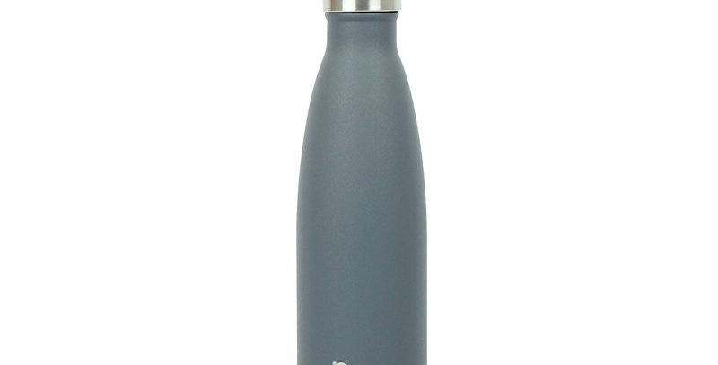 Qwetch Stainless Steel Water Bottle 500ml - Granite Grey