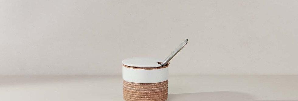 Mali Ribbed Sugar Pot - Nkuku