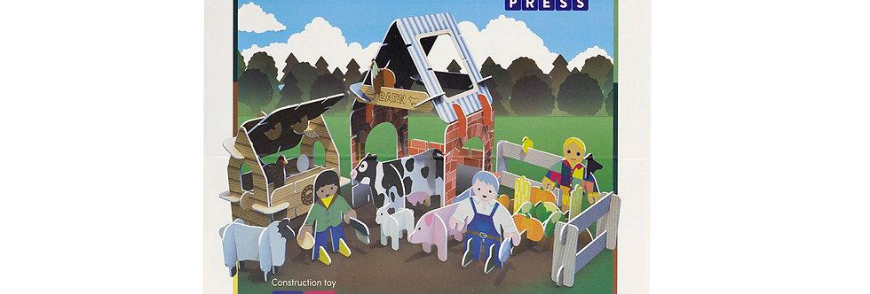 Farmyard Build & Play Set - Play Press Toys