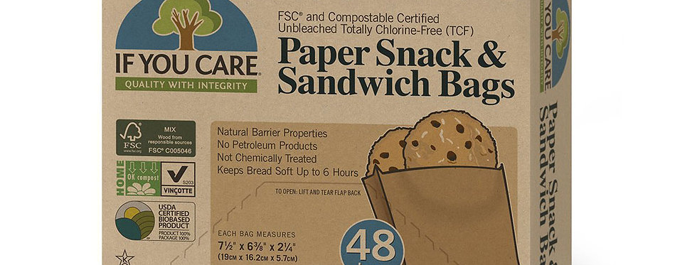 If You Care Paper Sandwich Bags x48