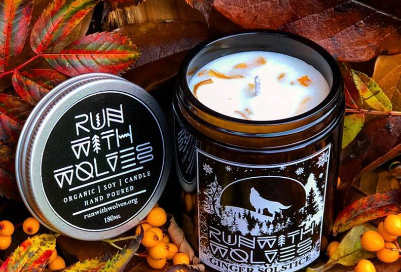 Ginger Solstice Soy Wax Candle 180ml - Run With Wolves
