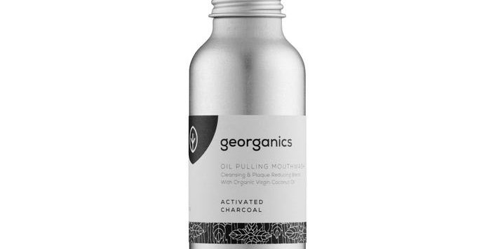 Oil Pulling Mouthwash Activated Charcoal 100ml - Georganics