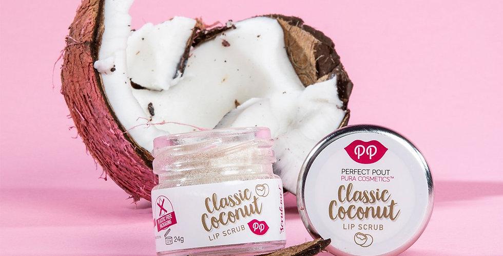 Classic Coconut Lip Scrub 24g - Pura Cosmetics