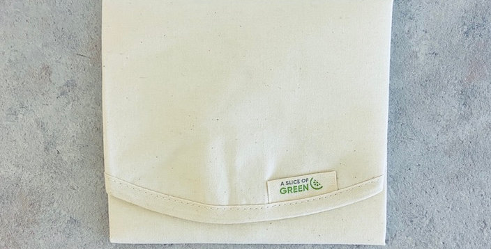 Natural Organic Cotton Sandwich/Food Wrap - A Slice of Green