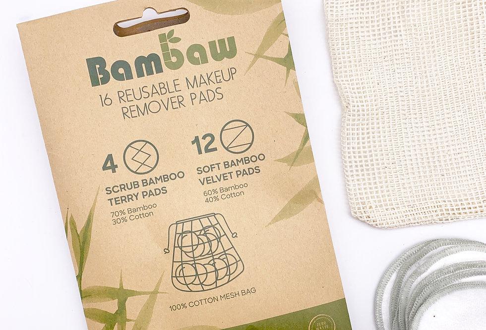 Reusable Make Up Pad Set x16 - Bambaw