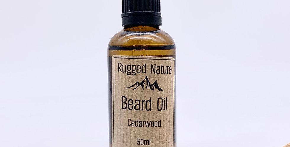 Cedarwood Beard Oil 50ml - Rugged Nature