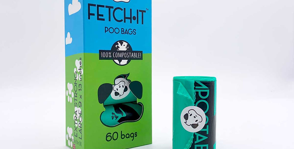 FETCH•IT Compostable Poo Bags x60