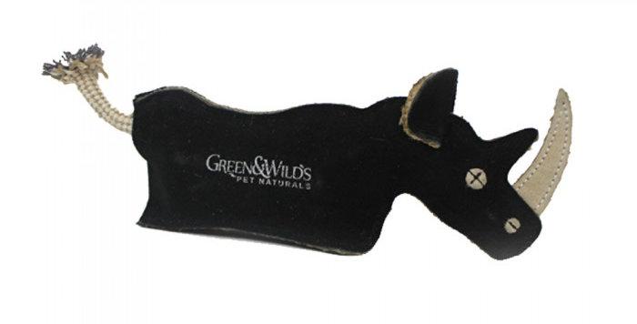 Ronnie the Rhino Eco Dog Toy - Green & Wild