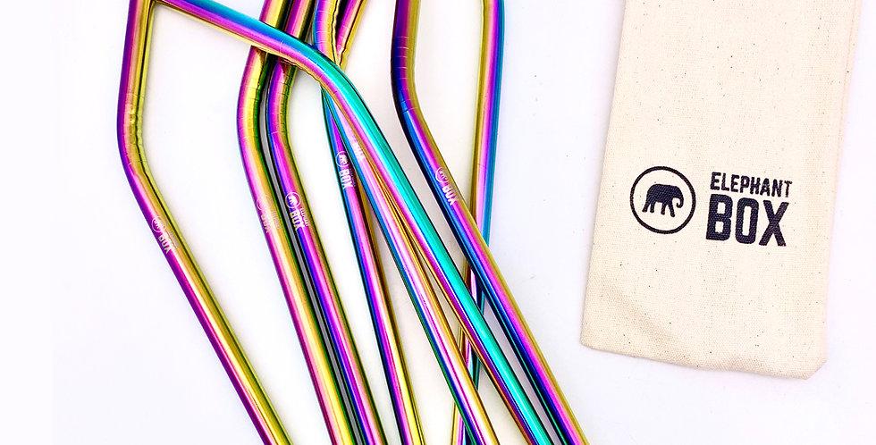 Rainbow Straw Set - Elephant Box