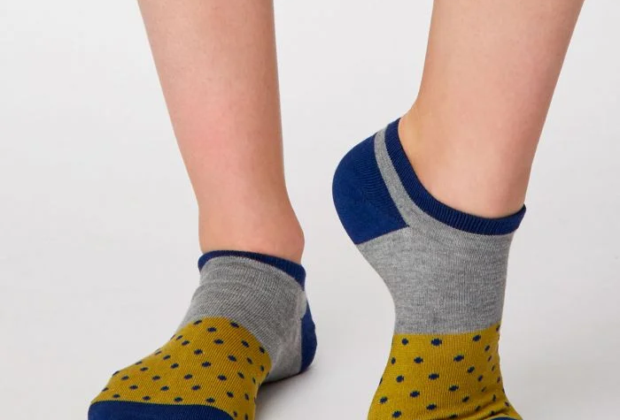 Esther Trainer Socks Citron - Thought Clothing