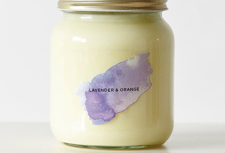 Lavender & Orange Aromatherapy Candle - Self Care Co