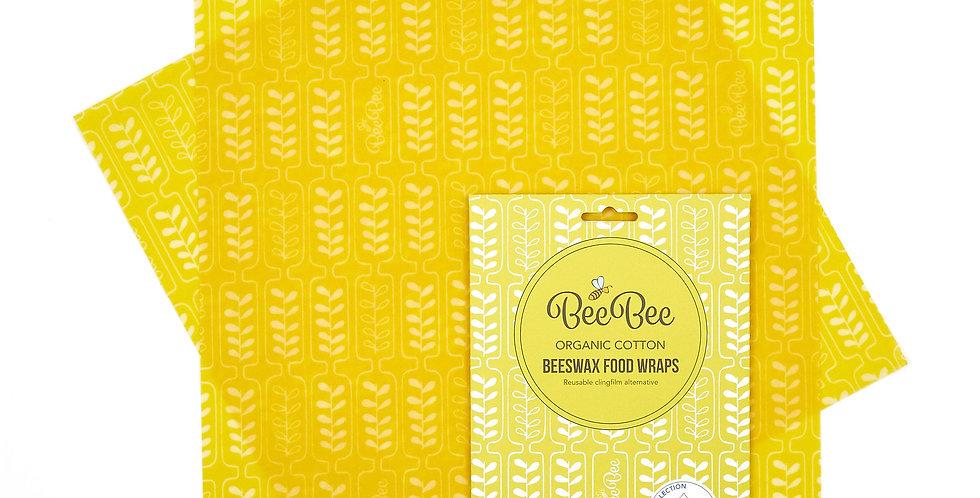 BeeBeeWraps x2 Sandwich Pack - Wheat