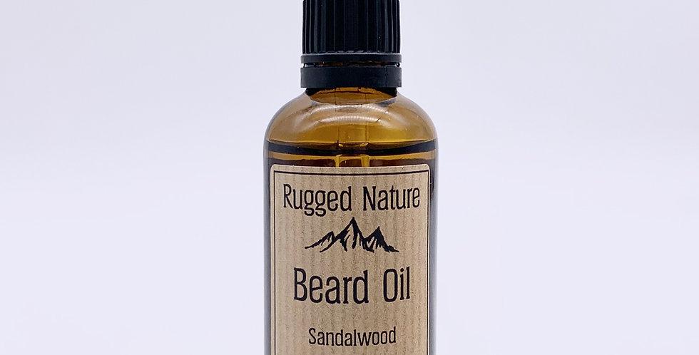 Sandalwood Beard Oil 50ml - Rugged Nature