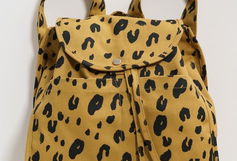 BAGGU Drawstring Backpack - Leopard
