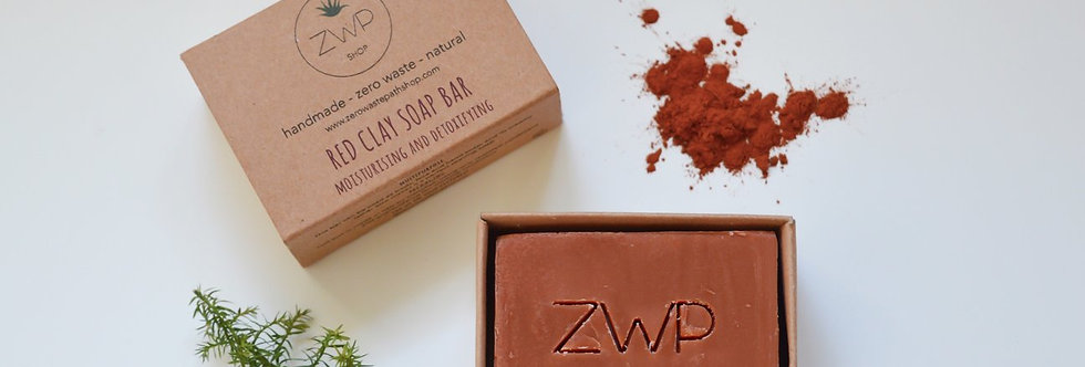 Red Clay Soap Bar 100g - Zero Waste Path