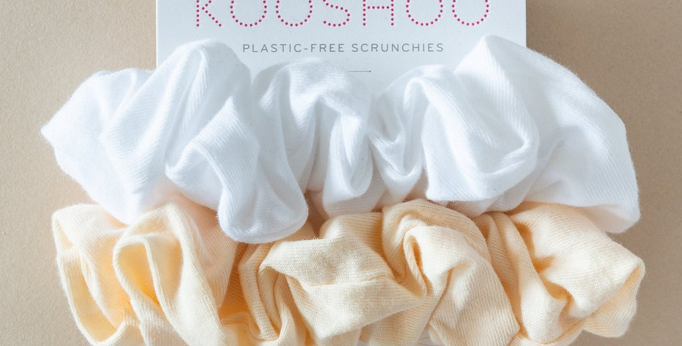 KOOSHOO Organic Hair Scrunchies - Natural Light