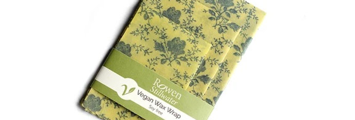 Vegan Wax Wraps x3 Cream Flowers - Rowen Stillwater