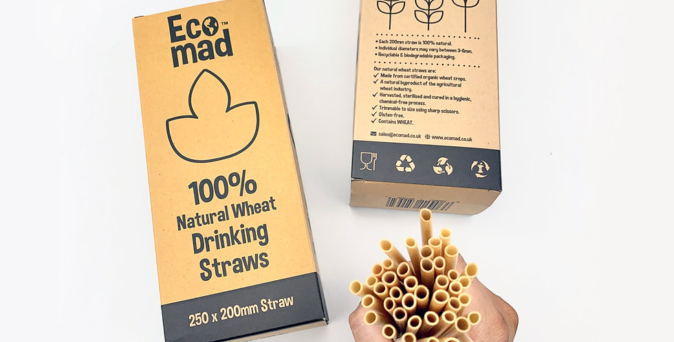 Wheat Straws x60 Pack - Eco Mad