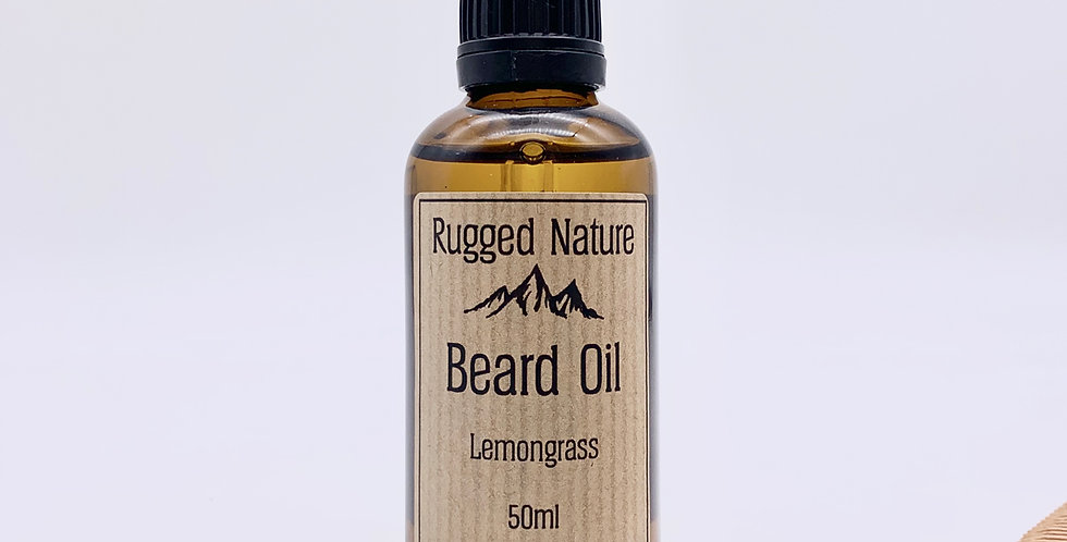 Lemongrass Beard Oil 50ml - Rugged Nature
