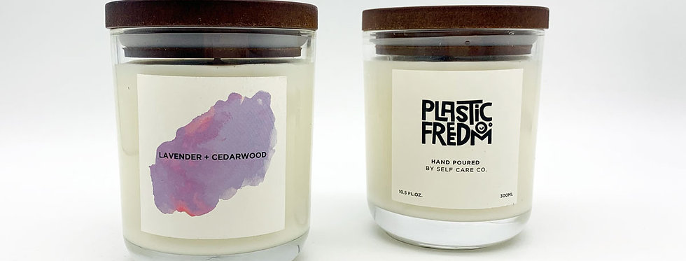 Plastic Freedom x Self Care Co Candle - Lavender + Cedarwood