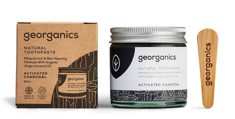 Coconut Oil Toothpaste Activated Charcoal 60ml - Georganics