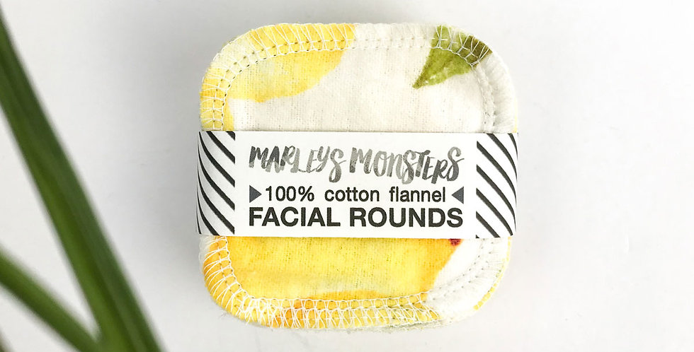 20 Facial Cotton Rounds Vintage Lemons - Marley's Monsters