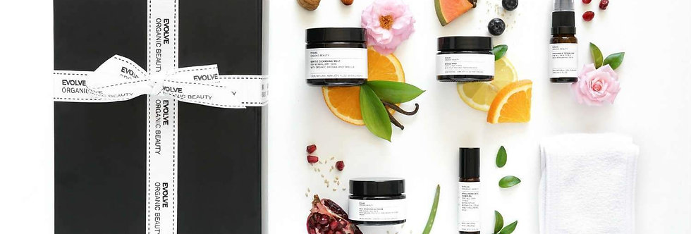 Get Up And Glow Facial In A Box Gift Set - Evolve Beauty